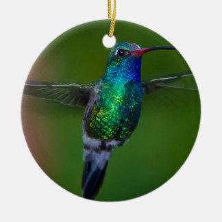 Floating Hummingbird Ceramic Ornament