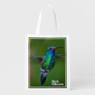 Floating Hummingbird Reusable Grocery Bag
