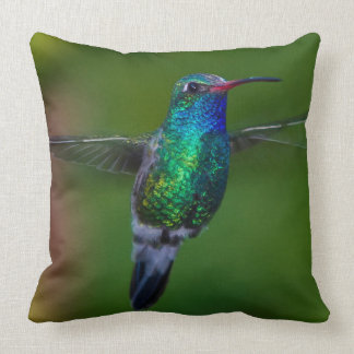 Floating Hummingbird Throw Pillow