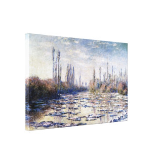 Floating Ice Near Vetheuil by Claude Monet Canvas Print
