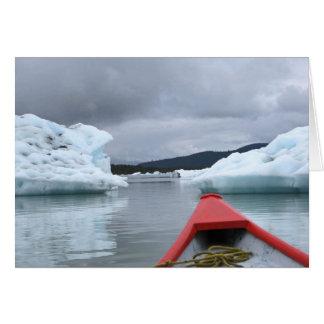 Floating Icebergs Greeting Card