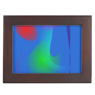 Floating Images in Blue Abstract Art Keepsake Boxes