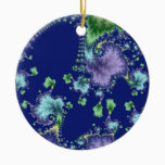 Floating In Christmas Ceramic Ornament