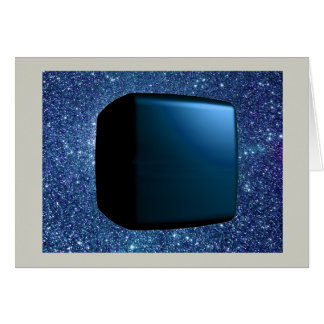 Floating in Forever Blue Starfield Greeting Card