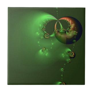 Floating in Green tile