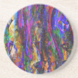 Floating in the flames sandstone coaster