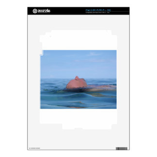 floating in the sea decal for the iPad 2