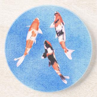Floating Koi blue Coaster
