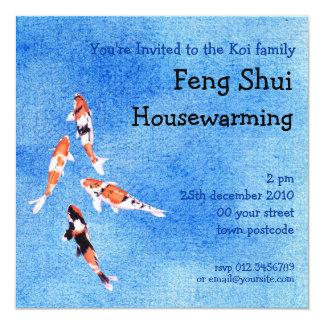 Floating Koi blue Invitation