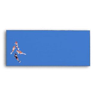 Floating Koi blue Letterhead Envelope envelope