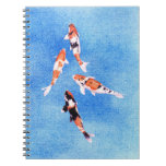 Floating Koi Blue Notebook