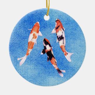 Floating Koi blue Ornament