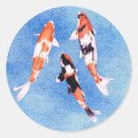 Floating Koi Blue Sticker