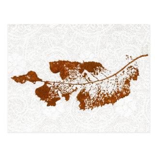 """Floating Leaf #1"" Country Roads Postcard"