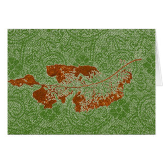 """""""Floating Leaf #1 Green"""" Country Greeting Card"""