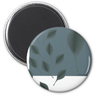 Floating leaves pool eco green garden earth day 2 inch round magnet