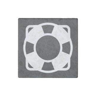Floating Lifesavers Symbol Stone Magnet