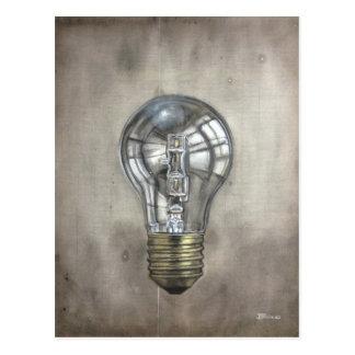 Floating Light Bulb Postcard