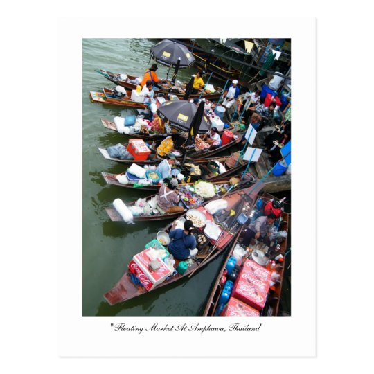 Floating Market At Amphawa, Thailand Postcard