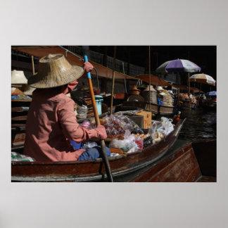Floating Market Wares Poster