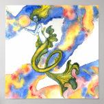 Floating Mermaid Poster