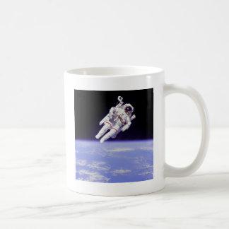 floating classic white coffee mug