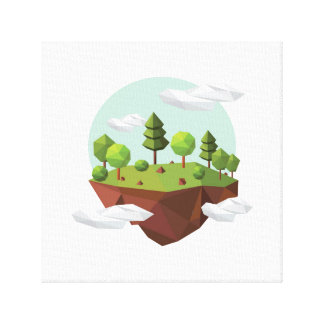 Floating nature canvas print
