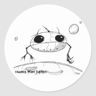 Floating Neighbor Classic Round Sticker