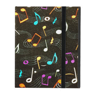 Floating Notes Fabric Print iPad Cover