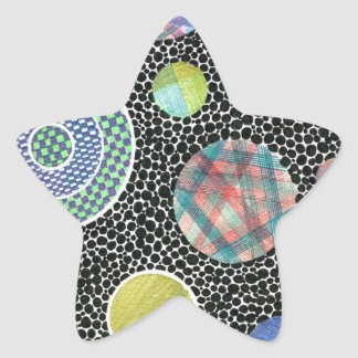 floating on black star sticker