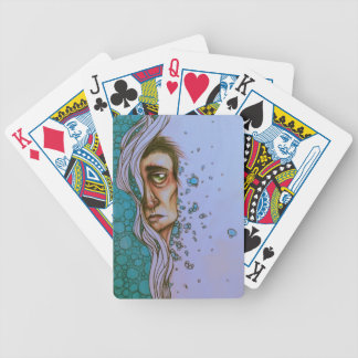 Floating On By Playing Cards