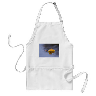 Floating On By Yellow Maple Leaf Adult Apron