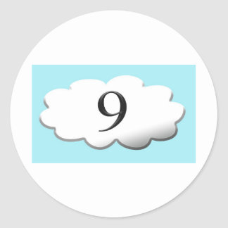 Floating on cloud nine classic round sticker
