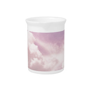 Floating on Fluffy Purple Clouds Drink Pitcher
