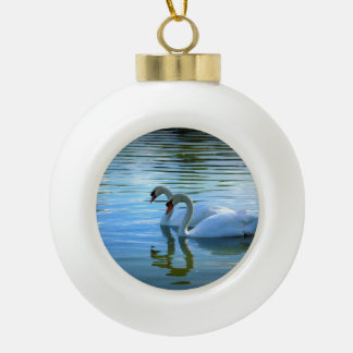 Floating on Glass Ceramic Ball Christmas Ornament