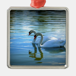Floating on Glass Metal Ornament
