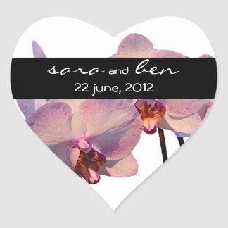Floating Orchids Wedding Sticker