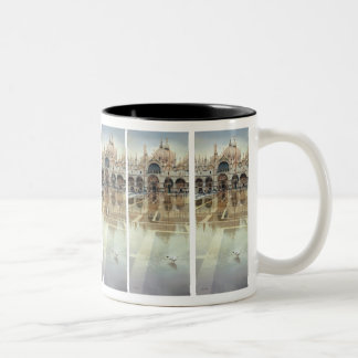 """Floating Palace"" Architecture Watercolor Two-Tone Coffee Mug"