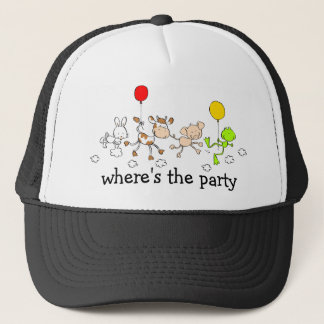 Floating Party Animals-Apparel Trucker Hat