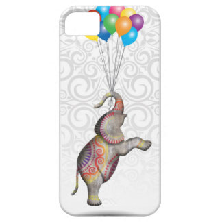 Floating Peace Elephant with Balloons iPhone 5 Cover
