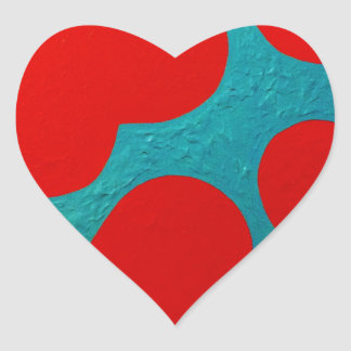 """Floating petals"" Heart Sticker"