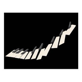 Floating Piano Keys Postcard