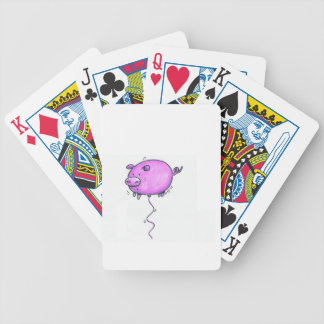 Floating pig playing cards