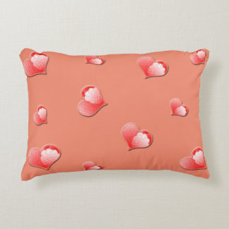 Floating Pink Hearts Accent Pillow