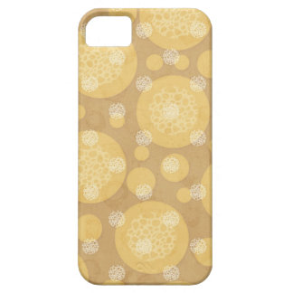 Floating Polka Dots Cream and Light Brown iPhone SE/5/5s Case