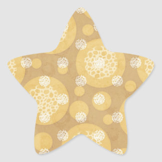 Floating Polka Dots Cream and Light Brown Star Sticker