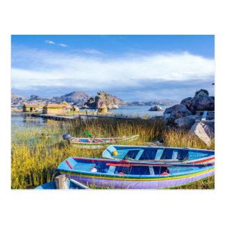 Floating postcard, Islands, Lago Titicaca Postcard
