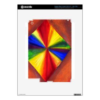 Floating Rainbow color Diamond iPad 3 Skin