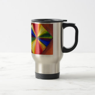 Floating Rainbow color Diamond Travel Mug