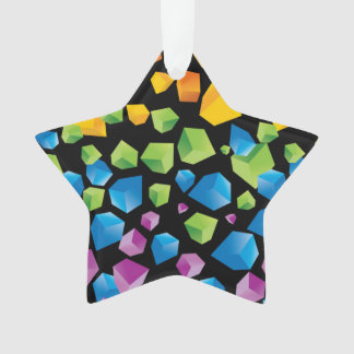 Floating Rainbow Cubes Pattern Ornament